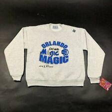 Vintage Orlando Magic Youth Boys L (14-16) Gray Sweatshirt Cotton Blend NWT USA