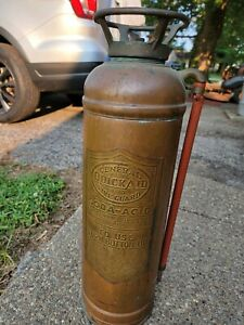 Vintage general quick aid Full Size Copper Fire Extinguisher, Empty
