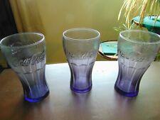Set 6 Large Amethyst Purple Glass 13.5oz Cooler Highball Juice Glasses