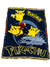 Vintage Pokemon Pikachu Graphic Throw Blanket