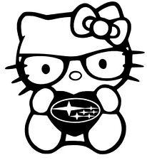 SUBARU DECAL HELLO KITTY Vinyl Sticker Skin for CAR WINDOW  2X (PAIR)