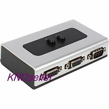 2 Port Serial 9pin Manual Switch High Quality Selector Box 2-way RS232 Female