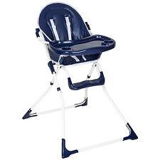 Chaise haute de bébé pour enfants grand confort bleu