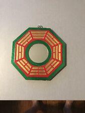 """6"""" Red/Green/Gold Feng Shui Traditional Yin Yang BaGua Mirror"""