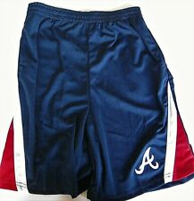 ATLANTA BRAVES KIDS YOUTH SIZE XXL 18 RED/WHITE/BLUE SHORTS W/ STITCHED LOGO A
