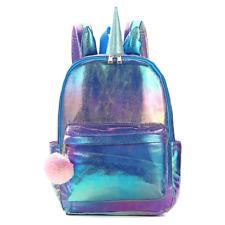 Unicorn Backpack,Holographic Reflection PU School Bag Lovely Large Capacity Bag