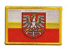 Polen Woiwodschaft Kleinpolen Aufnäher Flaggen Fahnen Patch Aufbügler 8x6cm