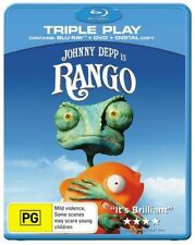 *New & Sealed* Rango (Blu-ray, Triple Play 2-Disc Set) Region B AUS. Animated