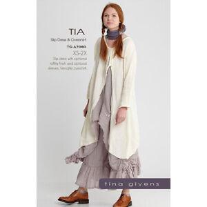 "TINA GIVENS ""TIA SLIP DRESS & OVERSHIRT A7080"" Sewing Pattern"