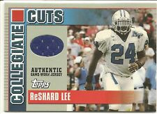 Reshard Lee 2003 Topps Draft Picks Collegiate Cuts Jersey Football Card