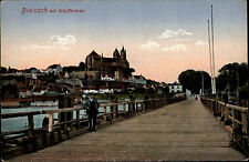 Breisach Schiff-Brücke 1915 Feldpostkarte Feldpost ab Neubreisach nach Altona