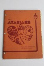 Atari Atarians Pinball Machine Manual with Schematics - Used Original