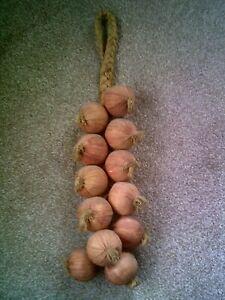 String Hanging Vegetable Onions Fake Food Kitchen Display