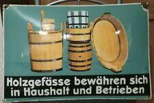 sehr altes gewölbtes Emaille Schild Reichsbund deutscher Böttchermeister 59 x 39
