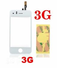 iPhone 3G Top Touch Screen Digitiser Digitiger Glass WITH Adhesive WHITE UK