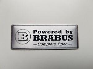 Decorative BRABUS Matt Finish Metalic Emblems Badge