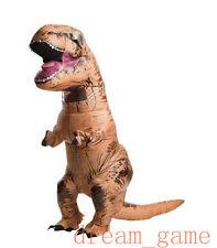 US STOCK ! Inflatable T-Rex Adult Costume Jurassic World Park Blowup Dinosaur 1X