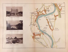 Antique River Thames Map Richmond, Teddington, Twickenham c1885 by Henry Taunt