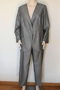 MARINA RINALDI, Wool & Silk Blend Pant SUIT, Plus Size 27 MR,18W US, 48 DE,56 IT