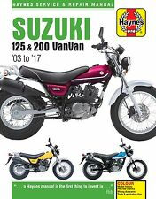 Suzuki RV125 & RV200 VANVAN 2003-2016 Haynes Manual 6355 Nuevo