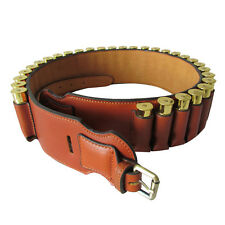 Tourbon Shotgun Bandolier Cartridge Belts Ammo Holder Leather 20GA Hunting Brown