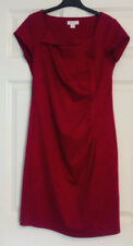Monsoon Ladies Red Short Sleeve Ruched Shift Dress UK Size 12