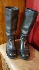 Rocket Dog  Black Pull On Leather Motorcycle Biker Knee High Boots Size 7