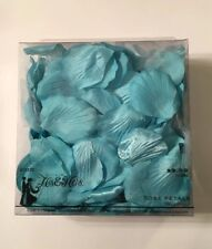 Blue Fabric Flower Petals For Wedding, Bridal Shower, Party Decoration