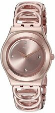 Swatch Women's YLG126G 'Irony Djane' Crystal Rose-Tone Stainless steel Watch