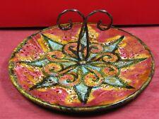 Céramique Yvon Roy, XXème, plateau à fromage, diamètre 28 cm