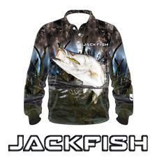 JACKFISH Barramundi Long Sleeve Fishing Shirt - UV UPF QUICK DRY S M, L- 3XL