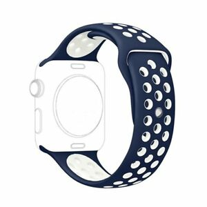 Replacement Silicone Band For Apple Watch Sport Nike+ 38/40 42/44mm Series 4 3 2