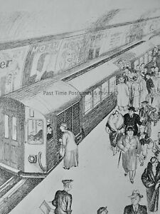 1935 Vintage Print LONDON UNDERGROUND - WILL YOU STOP AT GOLDER'S GREEN?
