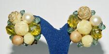 Vintage Cluster oreilles Boucles d'oreilles années 60er signé Hong Kong