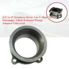 "2.5"" to 3"" Stainless Car V-Band Turbo Downpipe 4 Bolt Exhaust Flange Adapter"