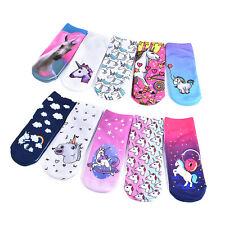 Cute Print Women Girl Casual Soft Cotton Low Cut Ankle High Sport Crew Sock Warm