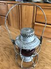Antique/Vintage Handlan Red Globe St. Louis USA Railroad Lantern, BR, Rail Yard