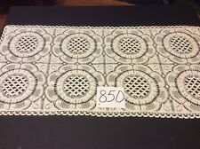 """28""""x14""""  Beautiful Vintage Lace Table Scarf  Off White"""