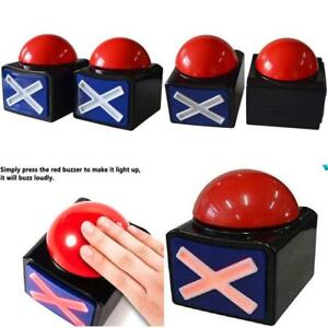 Game Answer Buzzer 2 Pcs, Alarm Sound Play Button With Light Trivia Quiz Got For