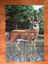 """Toland Outdoor Large Garden Flag 35""""L x 24""""W Buck Deer Akers Made Usa Excellent"""