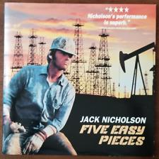 LASERDISC Movie: FIVE EASY PIECES - Jack Nicholson, Karen Black - Collectible