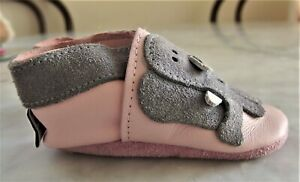 Shoo Shoos: Handcrafted in S.Africa Elephant Baby Girl Booties Leather Suede 0-6