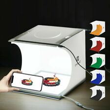 40 LEDs Photo Studio Photography Light Box 6 Color Backdrop Lighting Room Kit