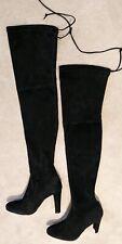 Stuart Weitzman Black Suede OTK Highland Boots NEW $798 Size 9.5 Narrow
