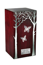 Artistic Urn with Tree  Funeral Urn For Ashes Butterfles Adult Cremation Urn