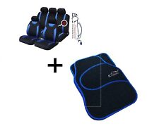 9 PCE Sports Carnaby Blue/ Black CAR Seat Covers + Matching Mat Set Chevrolet