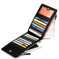 Wonderful Leather Multi-use Cards Phone Holder Bag Zipper Billfold Wallet Purse