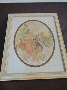 "Barbara Weldon Print ""Birds"" Framed Oval Matte"