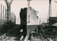 SAINT-NAZAIRE 1950 - Lancement Paquebot Général Leclerc - Photo de Presse