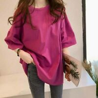 Solid Loose Summer Ladies Blouse Top T-shirt Shirt Fashion Short Sleeve Women